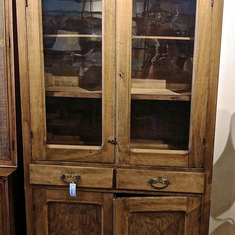 Antique Wood Cabinet Size: 40x17x78