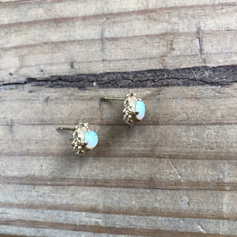 Opal & 14k Gold Earrings