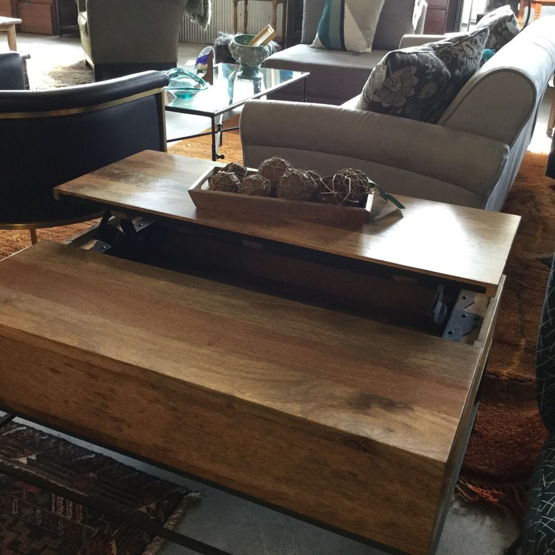 "West Elm Storage Coffee Table, Mango, Size: 36""X26""X18"""