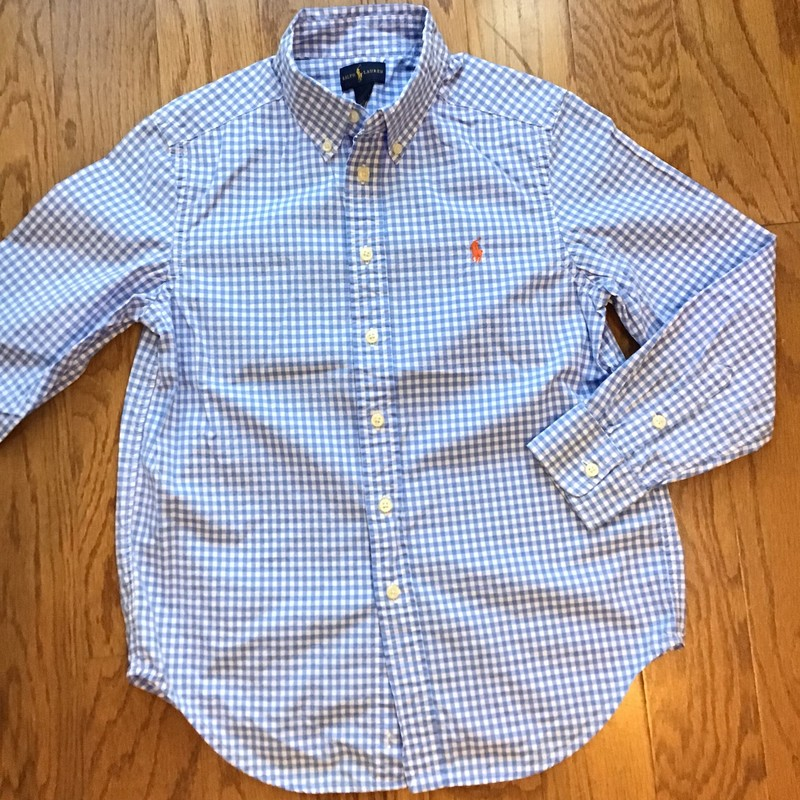 Ralph Lauren Shirt, Blue, Size: 10-12<br /> <br /> <br /> <br /> ALL SALES ARE FINAL. NO RETURNS OR EXCHANGES.