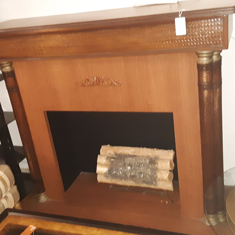 WOODEN FIREPLACE, None, Size: None