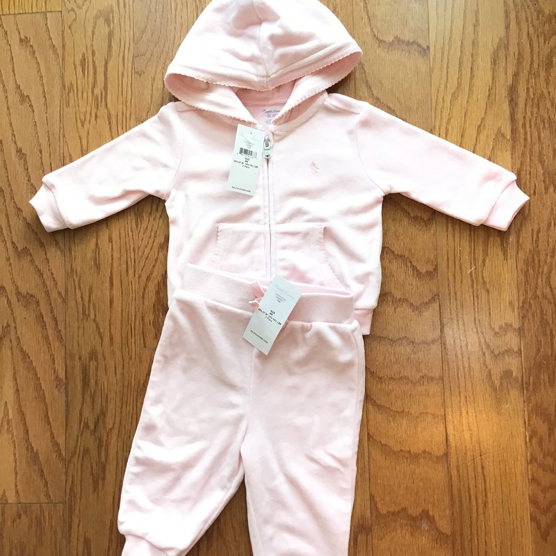 Ralph Lauren 2pc NEW, Pink, Size: 6m<br /> <br /> <br /> VELOUR. BRAND NEW WITH TAG.<br /> <br /> <br /> ALL ONLINE SALES ARE FINAL. NO RETURNS OR EXCHANGES.