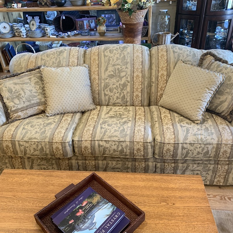 Couch, Grn/gld, Size: None