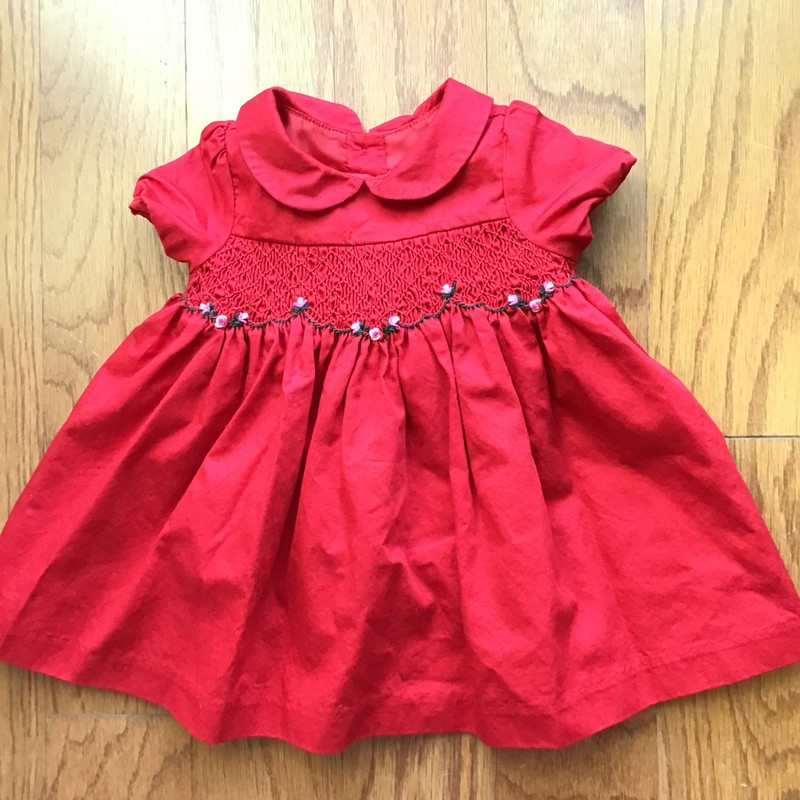 Janie Jack Dress, Red, Size: 3-6m<br /> <br /> <br /> ALL ONLINE SALES ARE FINAL. NO RETURNS OR EXCHANGES.