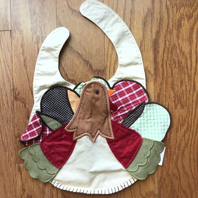 Pottery Barn Turkey Bib, Multi, Size: .<br /> <br /> <br /> <br /> ALL ONLINE SALES ARE FINAL. NO RETURNS OR EXCHANGES.