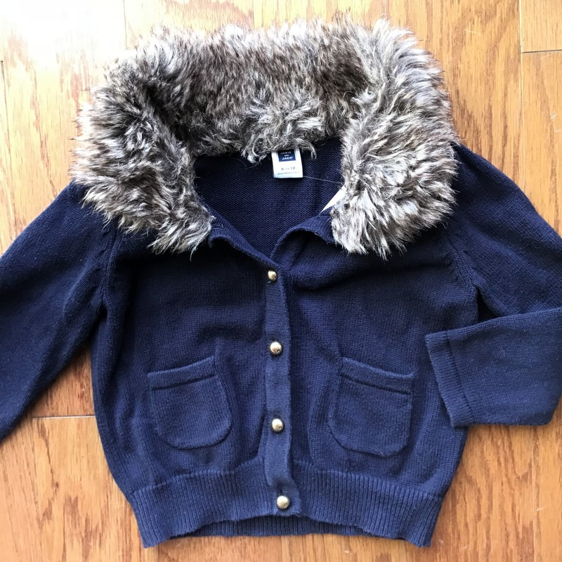 Janie Jack Cardigan, Navy, Size: 6-12m<br /> <br /> <br /> Light fading due to navy<br /> <br /> <br /> ALL ONLINE SALES ARE FINAL. NO RETURNS OR EXCHANGES.