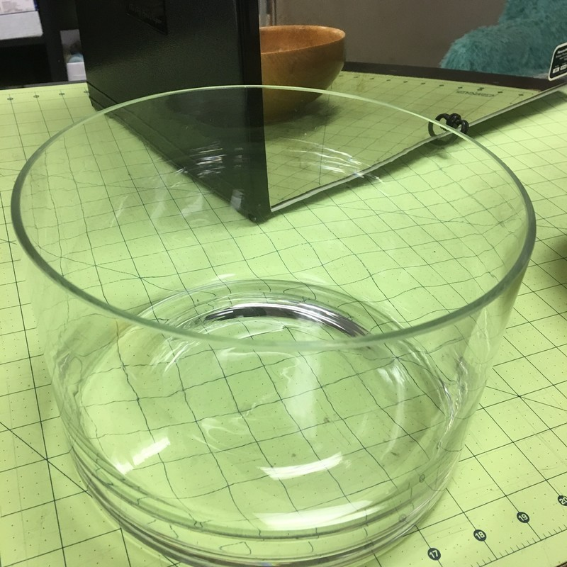 Straight Sided Glass Bowl, None, Size: 9x6 Inch