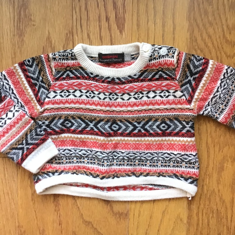 Catimini Sweater, Multi, Size: 12m<br /> <br /> <br /> ALL ONLINE SALES ARE FINAL. NO RETURNS OR EXCHANGES.