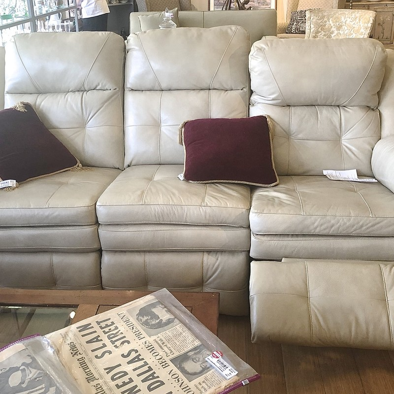 "Sofa Recliner Electric, Beige, Size: 84"" W"