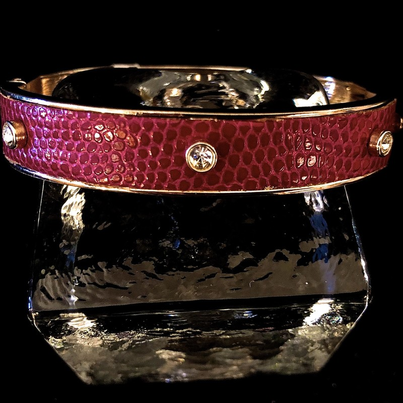 Bracelet, Purple Rhinestones, Bangle