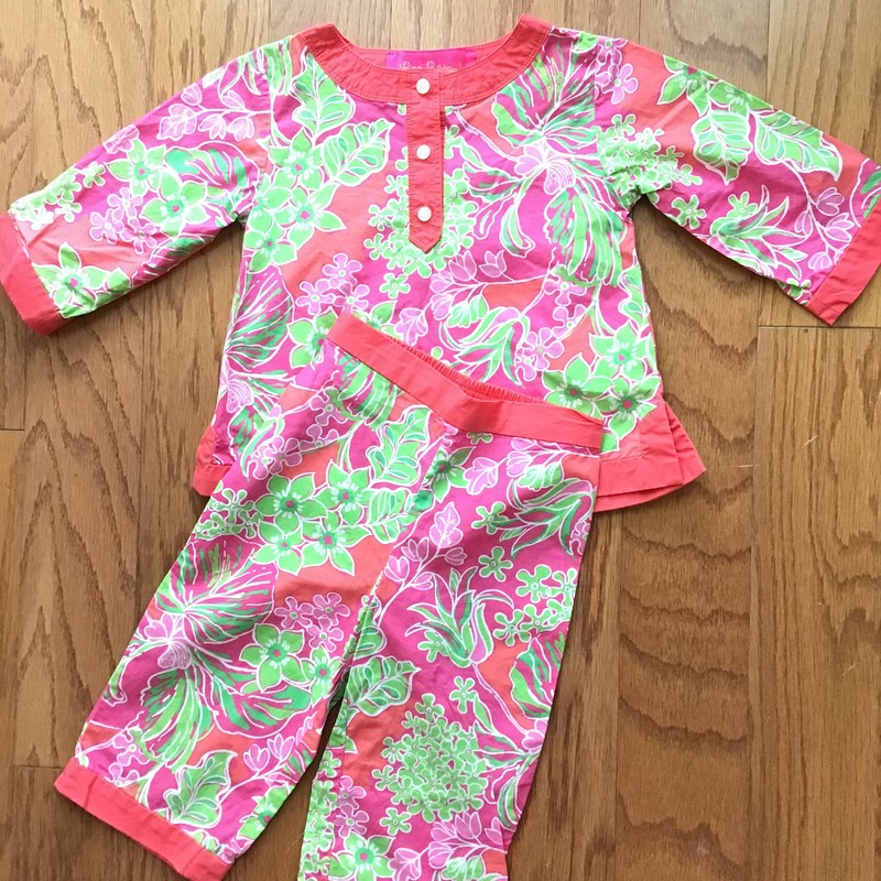 Lilly Pulitzer 2pc Outfit, Pink, Size: 12-18m<br /> <br /> <br /> ALL ONLINE SALES ARE FINAL. NO RETURNS OR EXCHANGES.
