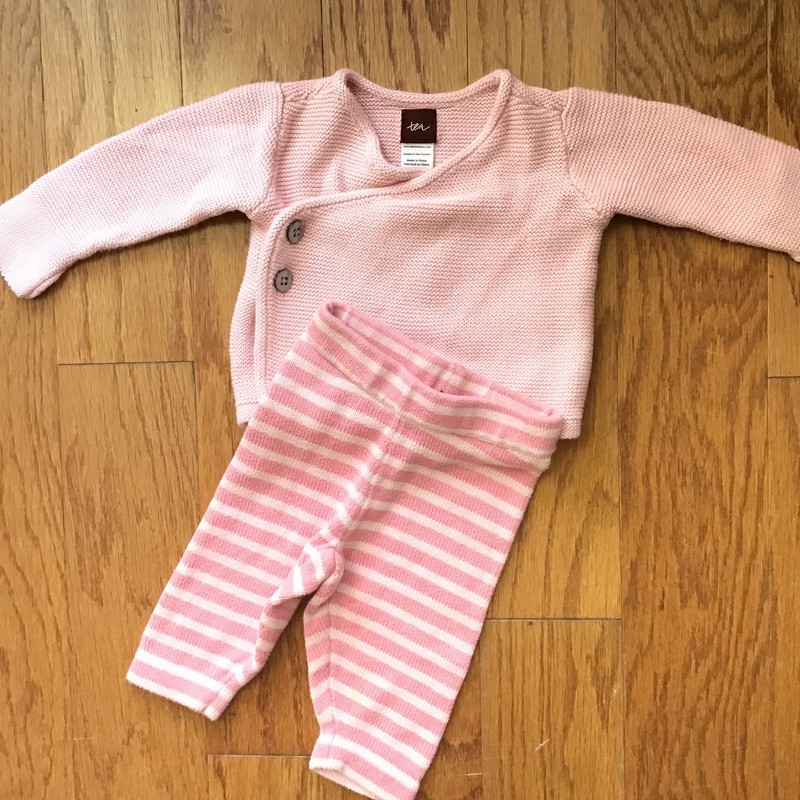 Tea Collection 2pc Outfit, Pink, Size: 0-3m<br /> <br /> <br /> ALL ONLINE SALES ARE FINAL. NO RETURNS OR EXCHANGES.