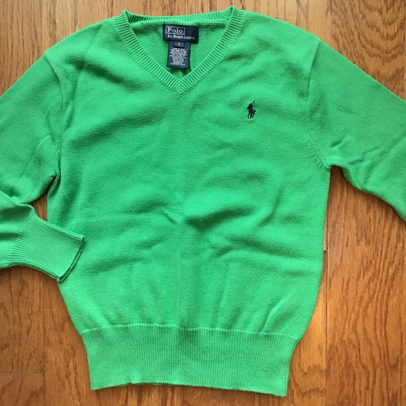 Polo RL Sweater, Green, Size: 7<br /> <br /> <br /> ALL ONLINE SALES ARE FINAL. NO RETURNS OR EXCHANGES.