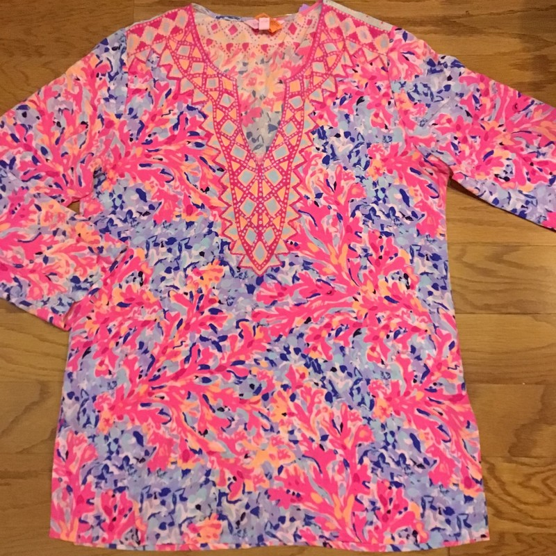 Lilly Pulitzer Silk Top, Pink, Size: Small<br /> <br /> <br /> ALL ONLINE SALES ARE FINAL. NO RETURNS OR EXCHANGES.