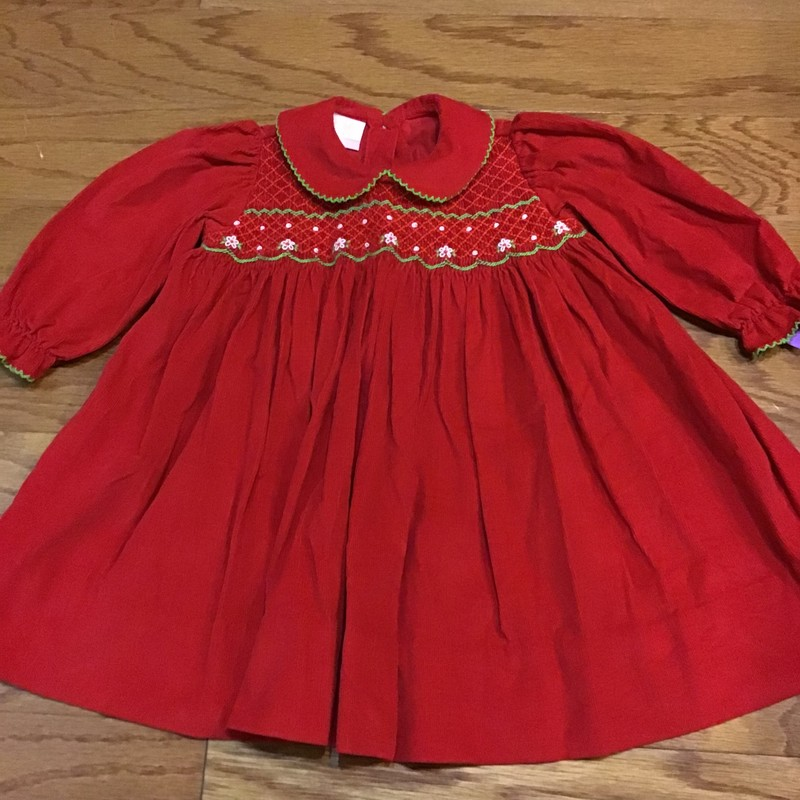Petit Bebe Dress, Red, Size: 18m<br /> <br /> <br /> ALL SALES ARE FINAL. NO RETURNS OR EXCHANGES.