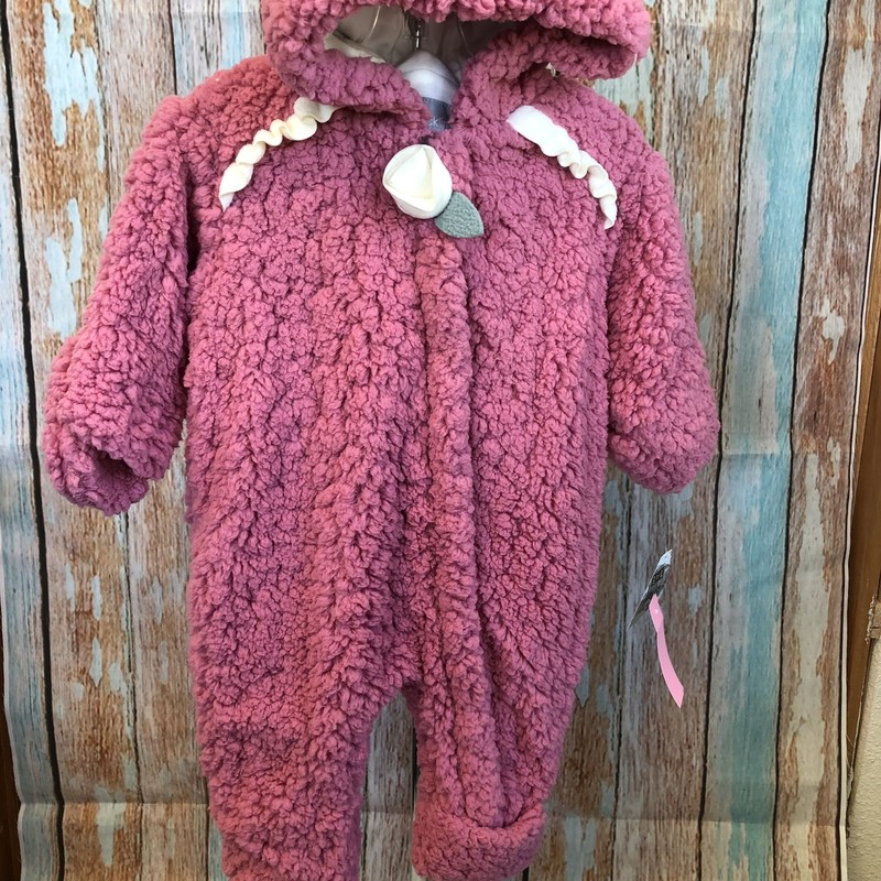 Brand NEW Mack Co fuzzy snow suit with hood and optional footie and mitten covers!  This is soft and fuzzy!