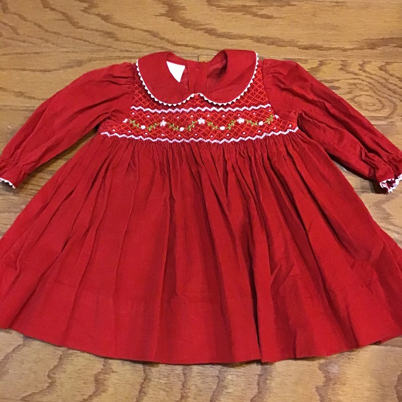 Petit Bebe Dress, Red, Size: 3m<br /> <br /> <br /> ALL ONLINE SALES ARE FINAL. NO RETURNS OR EXCHANGES.
