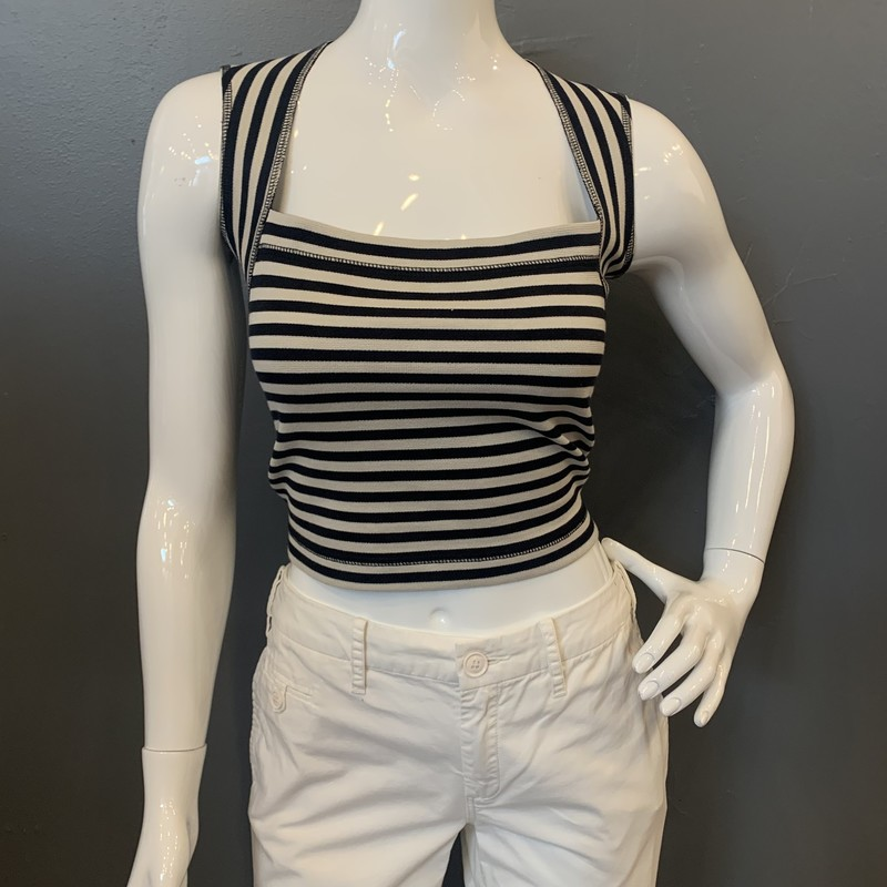 LAgence Stripe CapSleeve, Blk.Crm, Size: 2<br /> <br /> 100% Cotton<br /> <br /> New With Tags<br /> Original Retail: $225