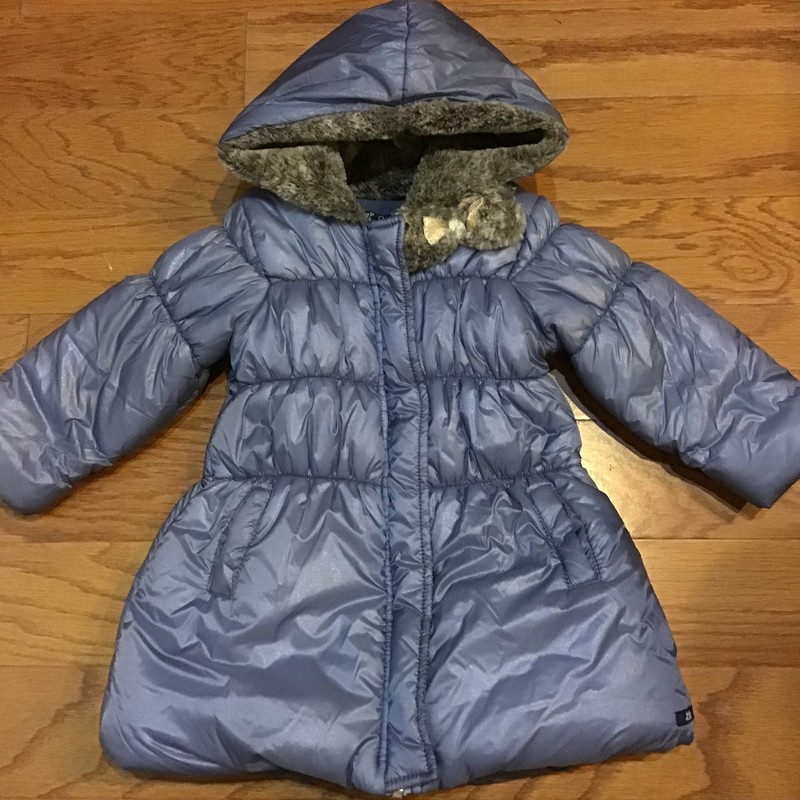 Lili Gaufrette Coat, Blue, Size: 18m<br /> <br /> <br /> ALL SALES ARE FINAL. NO RETURNS OR EXCHANGES.
