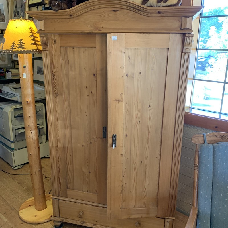 This beautiful  Mission Style Armoire is the perfect fit for your organizational needs as well as your style. Whether it is to store your tv/electronics or for some extra storage space your home will be looking beautiful.