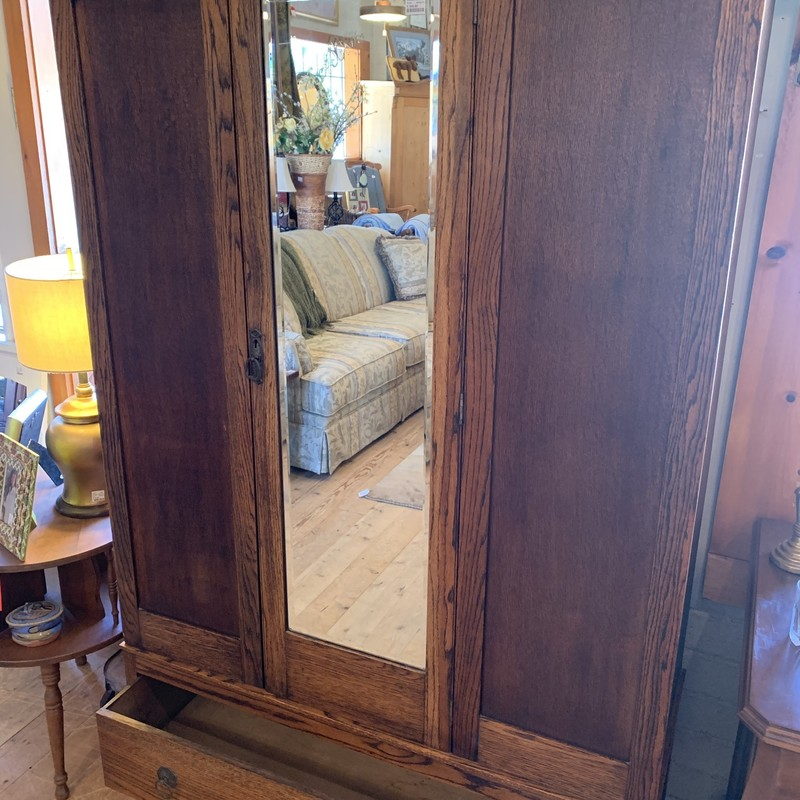 Armoire W/ Mirror, Brwn, Size: None