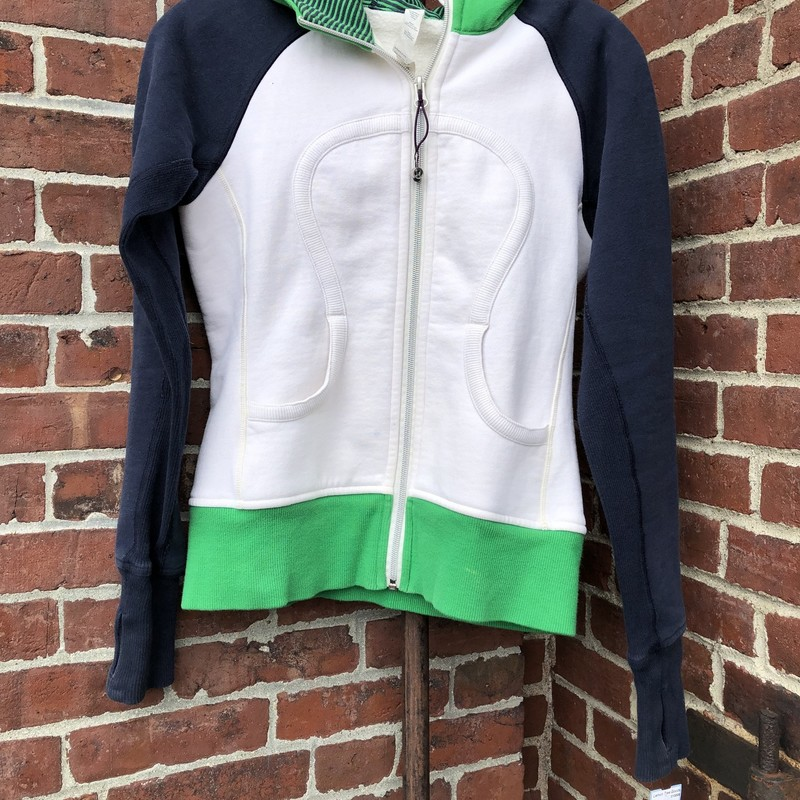 Lululemon Athletica Sweatshirt<br /> Size 4<br /> Green/white and navy in color