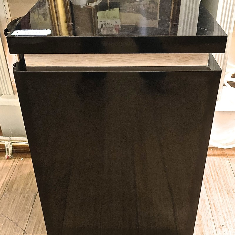 Cube Accent Table, Black, Size: 19x19x29