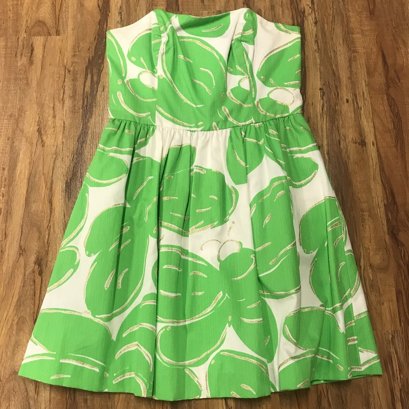 Lilly P. Dress, Green/wh, Size: 8