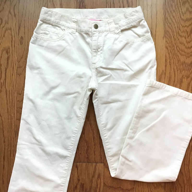 Lilly Pulitzer Cord Pant, White, Size: 10<br /> <br /> <br /> ALL ONLINE SALES ARE FINAL. NO RETURNS OR EXCHANGES.