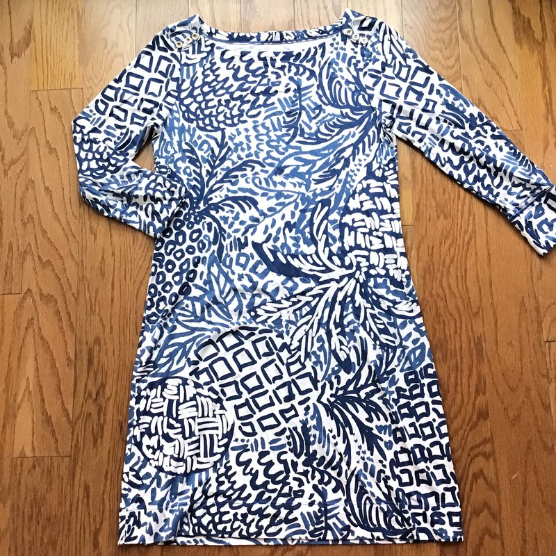 Lilly Pulitzer Dress, Blue, Size: Small<br /> <br /> Womens size. Slight wash wear and small spot on sleeve<br /> <br /> ALL ONLINE SALES ARE FINAL. NO RETURNS OR EXCHANGES.