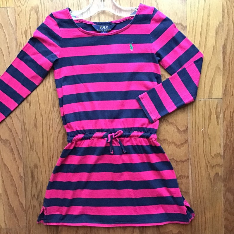 Polo RL Dress, Pink, Size: 5<br /> <br /> <br /> Slight wash wear on navy<br /> <br /> ALL ONLINE SALES ARE FINAL. NO RETURNS OR EXCHANGES.
