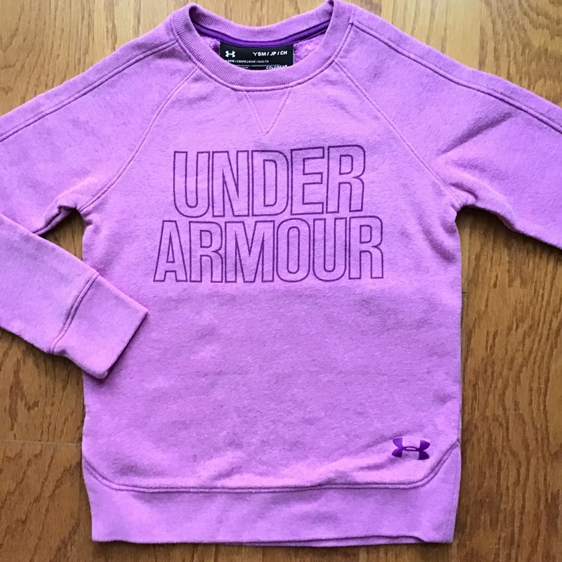 Under Armour Sweatshirt, Purple, Size: Small<br /> <br /> <br /> Light pilling to the touch<br /> <br /> ALL ONLINE SALES ARE FINAL. NO RETURNS OR EXCHANGES.