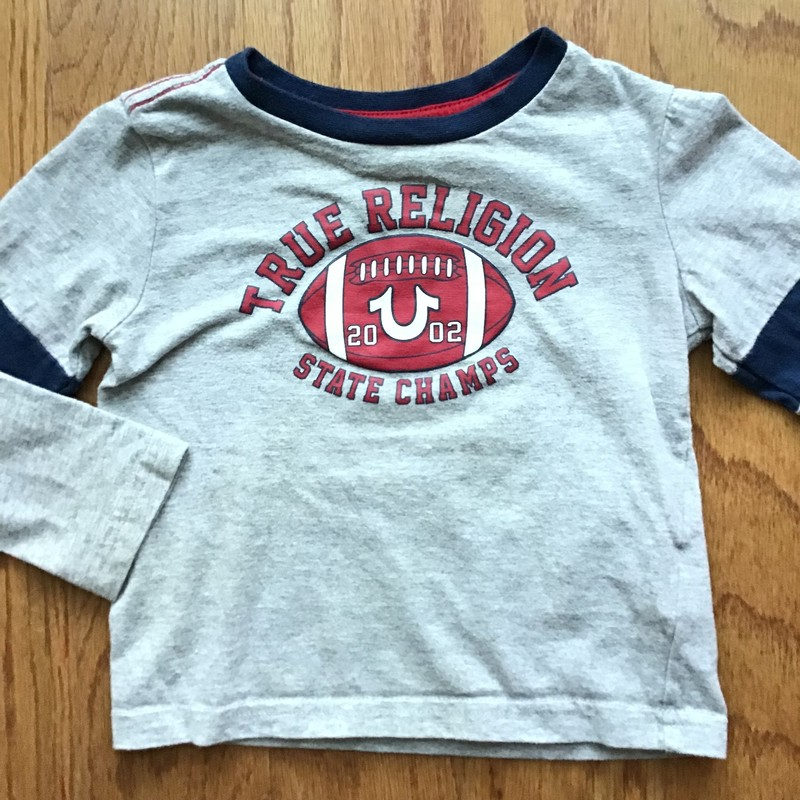 True Religion Shirt, Gray, Size: 18m<br /> <br /> <br /> ALL ONLINE SALES ARE FINAL. NO RETURNS OR EXCHANGES.