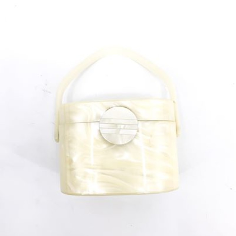 Cream lucite bag<br /> <br /> Vintage!<br /> <br /> Super cute!