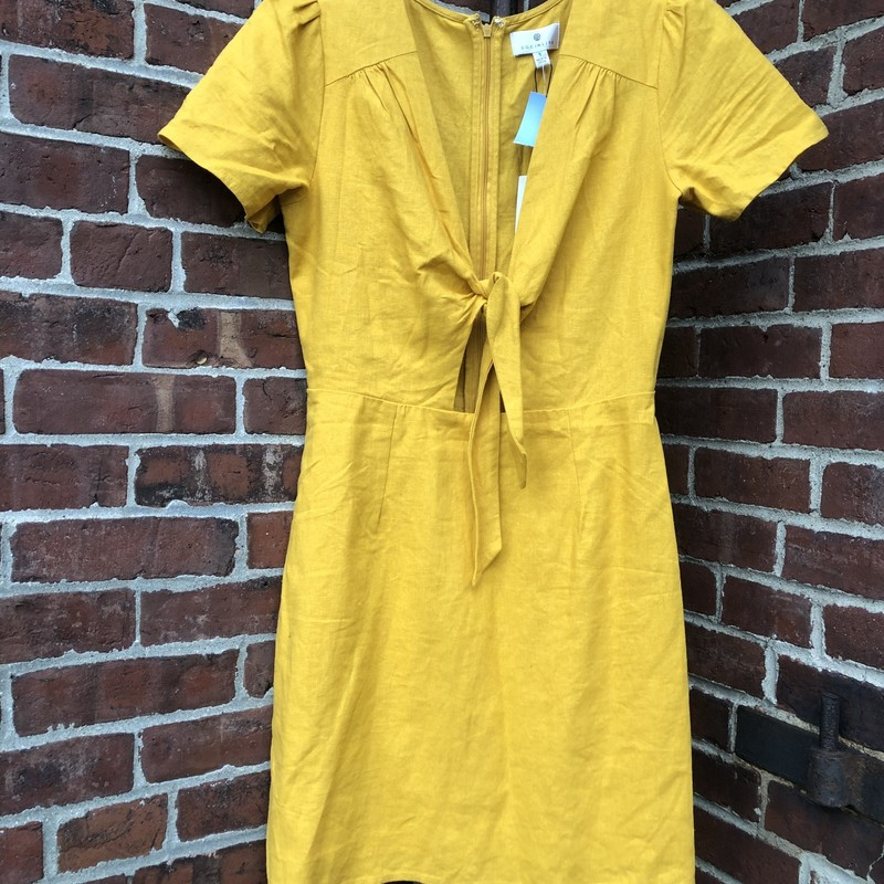 Yellow, Socialite Dress, size  S. Great, tie-front dress. Perfect paired with boots for a nice, fall look.