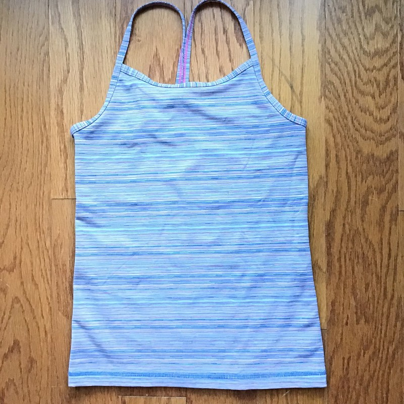 Ivivva Tank, Stripe, Size: 8<br /> <br /> <br /> ALL ONLINE SALES ARE FINAL. NO RETURNS OR EXCHANGES.