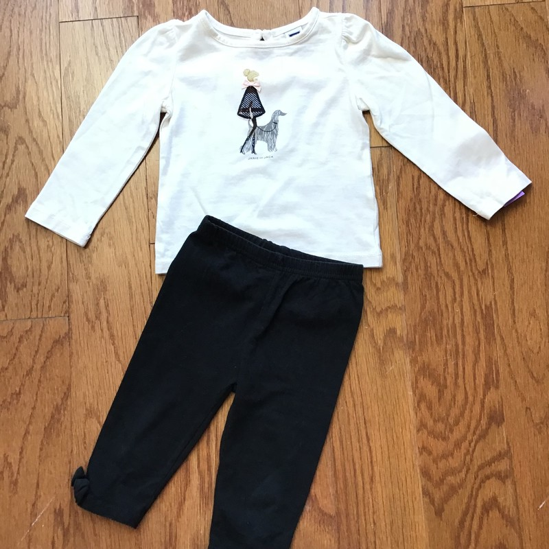 Janie Jack 2pc Outfit, BW, Size: 6-12m<br /> <br /> <br /> ALL ONLINE SALES ARE FINAL. NO RETURNS OR EXCHANGES.