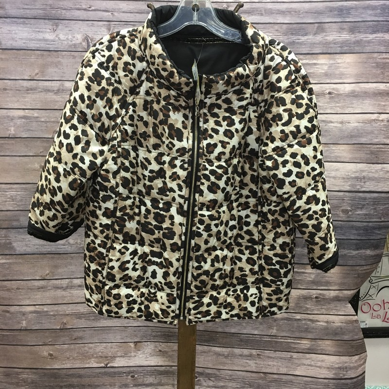 Chico's Jacket, Tan Animal Print, Size: Small