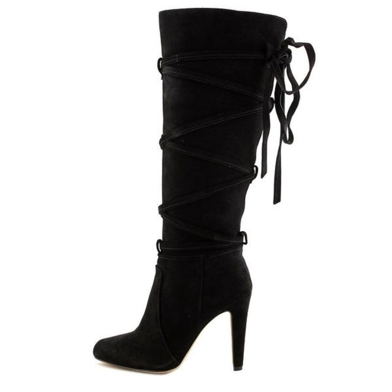 Vince Camuto Millay Women Round Toe Suede Black Knee boots, size 8.  Like new gently worn condition.