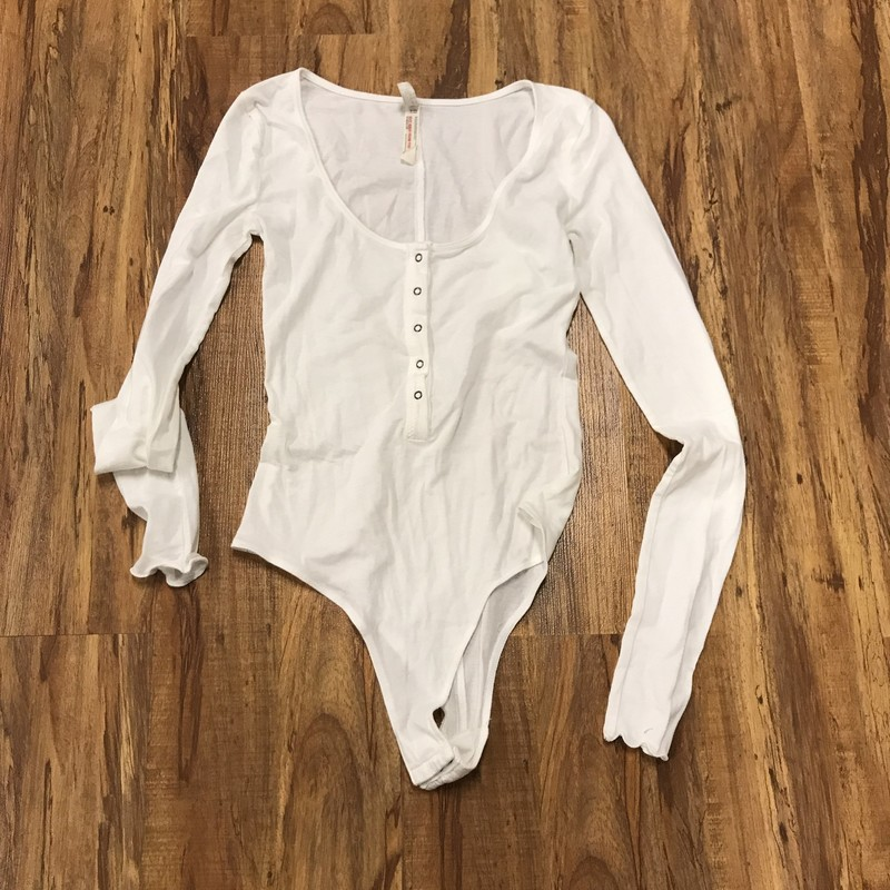 Free People Bodysuit, White, Size: XS