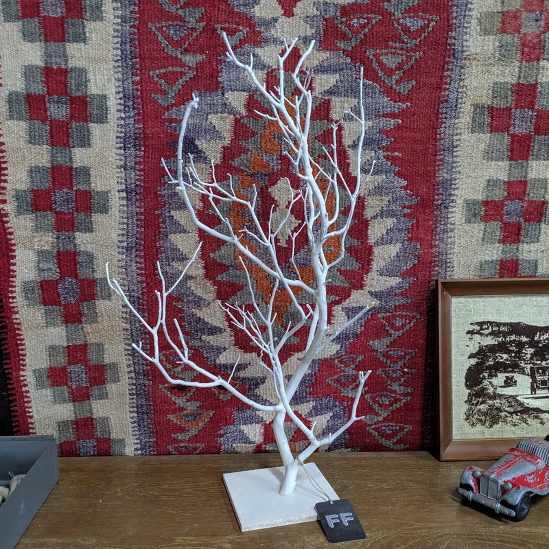 "Painted Branch Display Tree<br /> White<br /> Size: 25"" Tall"