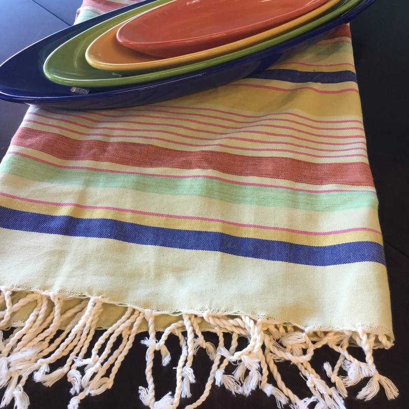 Turkish Fouta Textile, Multi, Size: Org.Cotton, Many Styles Available