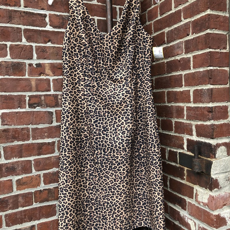 "Mica Leopard Print Dress, Leopard, Size: 8/10<br /> this lined fine quality dress zips up in back. 39"" length to hem. Bust 37"""