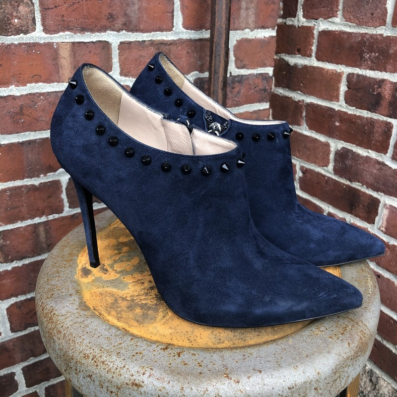 "Barbara Bui Stud Booties, Blue, Size: 39<br /> 4"" Stiletto heels with studs. Like new"