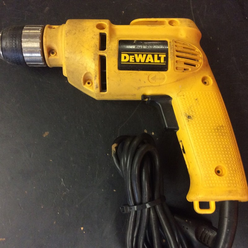 "DeWALT DW106 3/8"" Electric Corded Drill with Keyless Chuck"