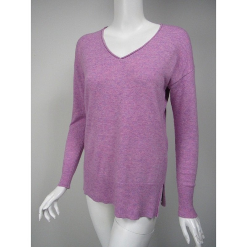 "J. crew V-Neck Swing Sweater size XXS, orchid.<br /> <br /> ""    An easy sweater, crafted in our soft merino-wool-and-linen blend. Featuring a rolled neck, high-low hem and swingy silhouette, you just might live in this effortless layer. (Luckily, we made it in a slew of pretty colors.)<br /> <br />     Wool/nylon/viscose.<br />     Dry clean.<br /> Relaxed fit.<br />     Hits below hip.<br />     Body length: 25 1/2"".<br />     Sleeve length: 30 1/2"".<br /> <br /> Photo and description credits; jcrew.com"