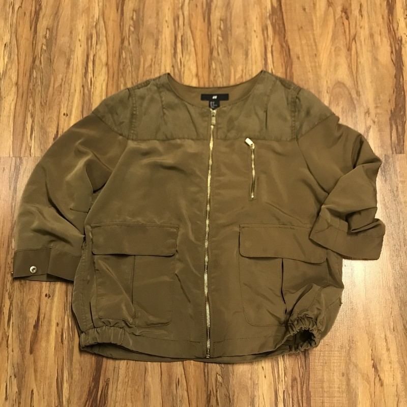 H&M Jacket, Green, Size: 8