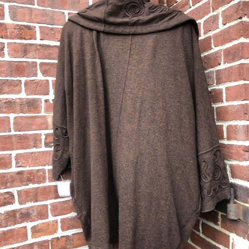 Mondi Wool Tee & Cardigan, Brown, Size: Large