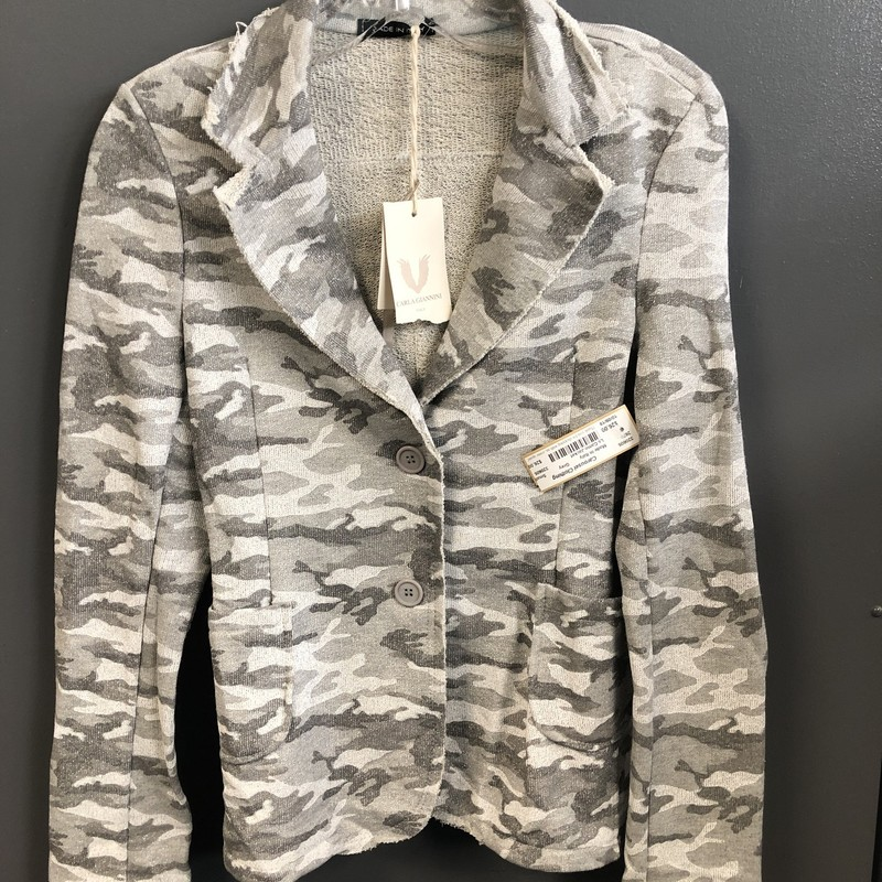 Ls Camo Jacket, Grey, Size: Small