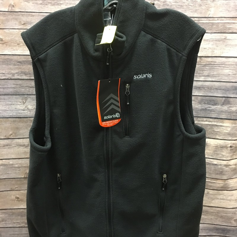 NWT New Men's Vest, Black, Size: Large